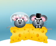 Wedding mice Stock Photo
