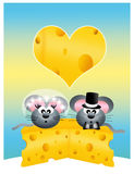 Wedding mice Stock Image