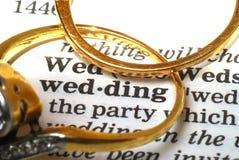 Wedding mit Exemplarplatz Stockbilder