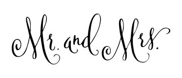 Wedding modern calligraphy Royalty Free Stock Photography