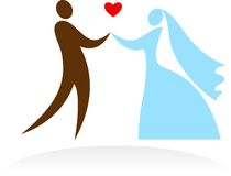 Wedding moments - 4 royalty free illustration