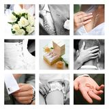 Wedding moments royalty free stock photography