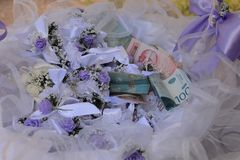 Wedding money Stock Images