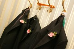 Wedding Morning Suits stock photo