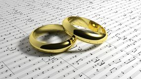 Wedding music Royalty Free Stock Images