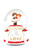 Wedding music box. On white background Stock Photo
