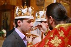 Wedding na igreja Imagens de Stock