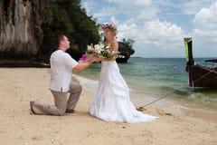 Wedding na praia Fotografia de Stock Royalty Free