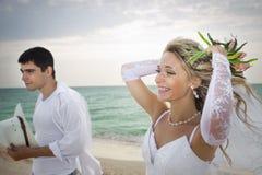 Wedding na praia fotografia de stock