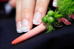 Wedding nails Royalty Free Stock Photography