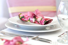 Wedding napkin decoration Stock Photography