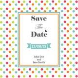 Wedding nautical invitation card with anchor stock illustration