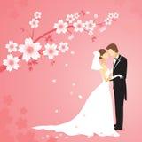 Wedding nel giardino Immagine Stock Libera da Diritti