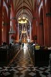 Wedding nella chiesa Fotografia Stock Libera da Diritti