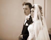 Wedding nella chiesa fotografia stock