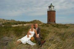 Wedding nelle dune Fotografia Stock Libera da Diritti