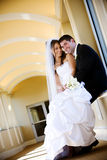 Wedding newlywed couple love Stock Photography