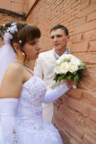 Wedding, the newlyweds royalty free stock photography