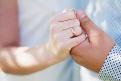 Wedding. Newlyweds exchange rings on a wedding day royalty free stock photos