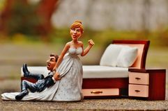 Wedding Night, Bride, Groom Royalty Free Stock Image
