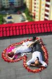 Wedding no telhado foto de stock