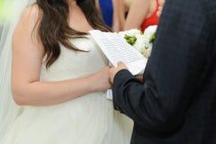 Wedding Oath Royalty Free Stock Photos