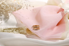 Wedding objects. Honeymoon concept (real shot from a wedding Stock Images