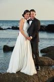 Wedding on ocean coast Royalty Free Stock Image
