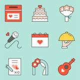 Wedding Organizer icon set. Filled outline icon Royalty Free Stock Photography