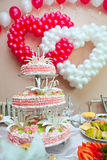 Wedding ornament from balloons Stock Photography