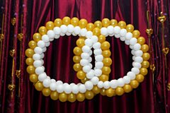 Wedding ornament from balloons Royalty Free Stock Photos