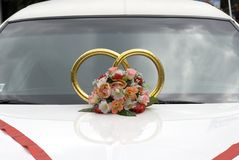 Wedding ornaments. In the form of rings and flowers Stock Images