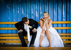 Wedding outdoor portraits royalty free stock image