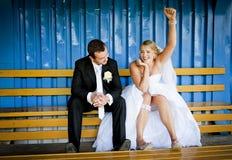 Wedding outdoor portraits Royalty Free Stock Photo