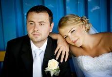 Wedding outdoor portraits Stock Photos