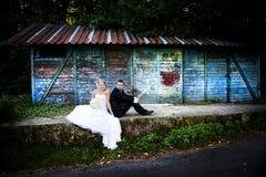 Wedding outdoor portraits Stock Image