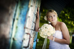 Wedding outdoor portraits Royalty Free Stock Photo
