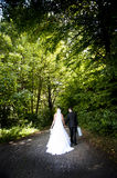 Wedding outdoor portraits Royalty Free Stock Photos