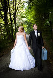 Wedding outdoor portraits Royalty Free Stock Photography
