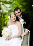 Wedding outdoor portraits Stock Photography