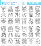 Wedding outline concept symbols. Perfect thin line icons. Modern linear stroke style illustrations set. Wedding outline concept symbols. Perfect thin line icons vector illustration
