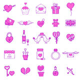 Wedding outline icons vector illustration. Royalty Free Stock Image