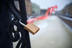 Wedding padlock Royalty Free Stock Photos