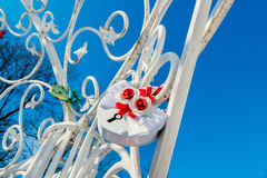 The wedding padlock. Royalty Free Stock Photo