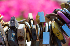 Wedding padlocks Stock Photo