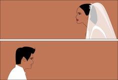 Wedding pair 2 stock image