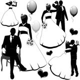 Wedding pairs royalty free stock images