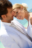 Wedding on paradisiacal beach Royalty Free Stock Photos