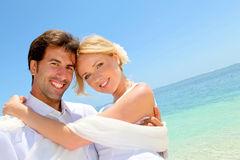 Wedding on paradisiacal beach Stock Image