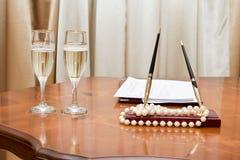 Wedding paraphernalia Royalty Free Stock Image